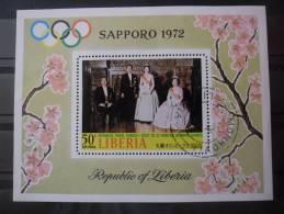 LIBERIA Bloc N°57 Sapporo 72 Oblitéré - Liberia