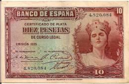 1935 Diez Pesetas .4 820 084 - Autres