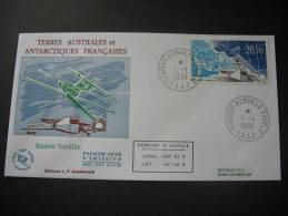 TAAF. 1994. Satelliet Station/Station Satellite FDC/ETB (G1838) - FDC