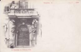 CPA 83 TOULON ,les Cariatides De L´Hôtel De Ville. (animée)1890 ( Carte Pionnière) - Toulon