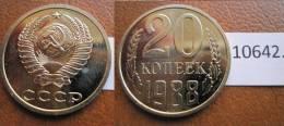 Rusia  20  Kopeck , Centimos 1988 - Monedas