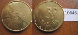 Belgica 5 Francos 1986, Leyenda En Frances - Monedas