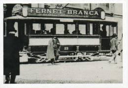 1/30 Promocard 9853 Storia Pubblicità Sui Mezzi Di Trasposto Tram Fernet Branca Milano Trein IGP30 Trolei - Strassenbahnen