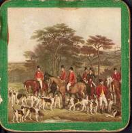 3 VERY NICE VINTAGE BEERMATS:COASTERS:HUNTING WITH DOGS AND HORSES - Beer Mats