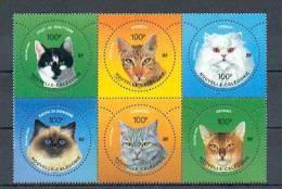 """Neukaledonien - Mi.Nr. 1338 - 1343 - """"Katzen"""" ** / MNH - Hauskatzen"""
