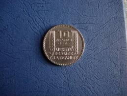 Belle Pièce De 10 Francs Turin 1931 - Francia
