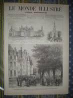 LE MONDE ILLUSTRE 11/10/ 1879 CHAMBORD CHATEAU LYON THEATRE BELLECOUR PONT VIADUC LESSARD DINAN RUSSIE SIBERIE - 1850 - 1899