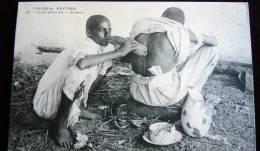 CARTOLINA-COLONIA ETIOPIA - MISSIONARIA- 1910 CIRCA-  CURA ABBISSINA  SALASSO - Ethiopie