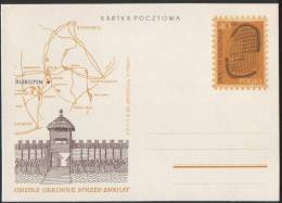 Poland Pologne, Archaeology, Biskupin – Lausatian Culture, Map, Dwelling, Postal Stationery 1969. - Archaeology