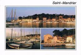SAINT-MANDRIER-sur-MER VAR - Carte Multivues : Le Port Et Les Quais - Circulée En 1992 - Saint-Mandrier-sur-Mer