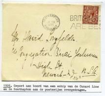 Lettre Avec Cad SOUTHAMPTON PAQUEBOT / Postée à Bord D'un Paquebot De La CUNARD LINE / 26 Février 1926 - 1902-1951 (Rois)