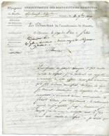 MP 20 BEAUNE / Administration Des Contributions Indirectes / Dept De La Côte D'Or / 11 Nov 1817 - 1801-1848: Précurseurs XIX