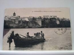 MAROC - AZEMMOUR - PECHEURS AU BORD DE L'OUN-ER-REBIA - 1924 ANIMATION (EDITION Vve A. SELLIER MAZAGAN N° 24) - Autres