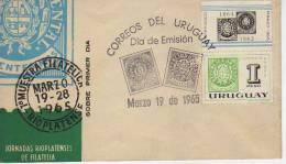 JORNADAS FILATELICAS RIOPLATENSES      SOBRE FDC  URUGUAY   OHL - Uruguay