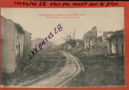 CPA 54,  RECHICOURT- Intérieur Du Village,  La Guerre En Lorraine En 1914-1918, Militaria    Nov 2012 GER-0554 - France