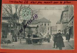 CPA 73, CHAMBERY, Place Du Marché Couvert Et Le Lycée, , Scènes & Types,    Nov 2012 GER-0558 - Chambery