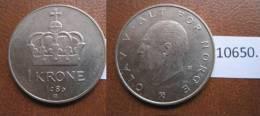 Noruega 1 Corona 1980 - Monedas