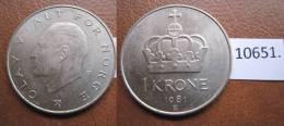 Noruega 1 Corona 1981 - Monedas