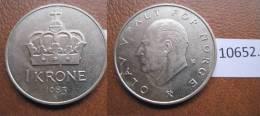 Noruega 1 Corona 1983 - Monedas