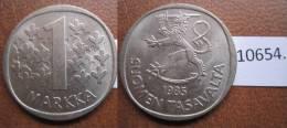 Finlandia 1 Marco 1985 - Monedas