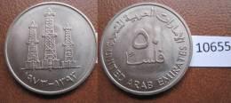 Emiratos Arabes Unidos , 50 Fils 1393 / 1973 - Monedas