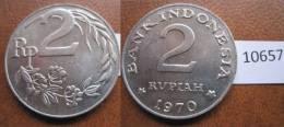 Indonesia 2 Rupias 1970 - Monedas