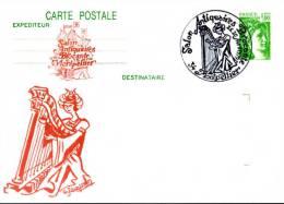 FRANCE - 1979 - MONTPELLIER - SALON DES ANTIQUAIRES - HARPE - ENTIER REPIQUE - Música