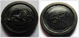 1975- ANCIEN JETON DELHAIZE  VIDANGE-CONSIGNE Valeur 5.00fb - Autres