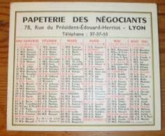 AClendrier 1961 - Papeterie Des Négociants. - Petit Format : 1961-70