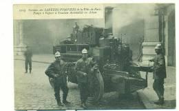 75/PARIS, Services Des SAPEURS-POMPIERS De La Ville De Paris, Pompe à Vapeur à Traction Automobile En Action - Sapeurs-Pompiers