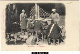 12697g CONSTANTINOPLE - Restaurant Turc Ambulant - 1901 - Turquie