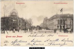 12768g POZNAN - Wilhelmstrasse - Provinzial-Ständehaus - Hauptpostamt - 1902 - Pologne