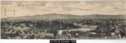 12793g COLMAR - Marsfeldpromenade - Postamt - Neue Kaserne - Catharinenkloster - 1901 - Carte Panoramique - Colmar