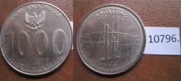 Indonesia 1000 Rupias 2010 Instrumento De Musica Angklung - Monedas
