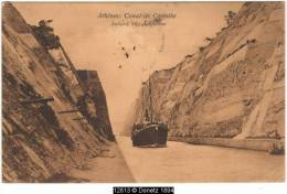 12813g ATHÈNES - Canal De Corinthe - 1906 - Grèce