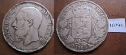 Belgica 5 Francos De Plata 1868 , Leopold II - Monedas
