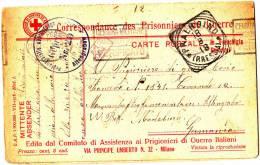 Tres Rare Double Carte Croix Rouge Prisonnier De Guerre Censuree Pour Camp En Allemagne ALTENGRABER - Militaria