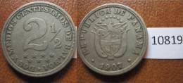 Panama  2 1/2 Centimos 1907 - Monnaies