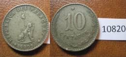 Paraguay 10 Centimos 1903 - Monnaies