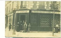 CARTE PHOTO BELLE DEVANTURE DE MAGASIN - E.CAPLIN, Epicerie De Choix! - Métiers