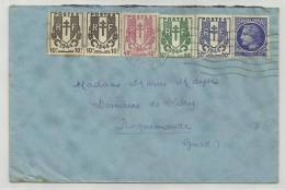 1945 - ENVELOPPE DE DIJON Pour ROQUEMAURE (GARD) - CHAINE BRISEE - MAZELIN - Cartas