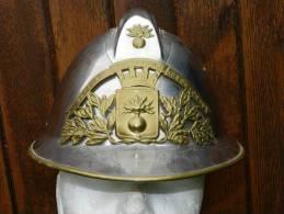 SUPERBE CASQUE ADRIAN POMPIER  1926 :  VILLE  De  MONTMACHOUX  !!!!!!! - Firemen
