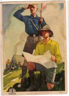 SCOUTING INDANTHRENE OLD POSTCARD - Scouting