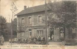 Mine De PIENNES - JOUDREVILLE : Hotel Du Nord - Enfants Sortant Des Ecoles - TRES RARE CPA - Francia