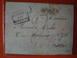 Frankreich: Vophilabrief Nach Paris Von 1825 ! - Poststempel (Briefe)