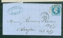 Lac Affranchie Par N° 22 En Aout 1868 Oblitéré  Gc 532 ( Bordeaux ) -  Am3218 - Marcofilia (sobres)