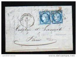 VOSGES - CONVOYEUR DE STATION : REMIREMONT - LIGNE N°209  R.EP - PAIRE DE N°60 III - IND 7 - Postmark Collection (Covers)