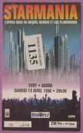 STARMANIA - OPERA ROCK - BERGER PLAMANDON - BILLET SPECTACLE 13 AVRIL 1996 - Tickets De Concerts
