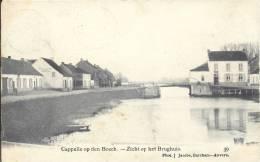 KAPELLE OP DEN BOS     CAPPELLE OP DEN BOSCH    ZICHT OP HET BRUGHUIS 1906    TOPKAART !!! - Kapelle-op-den-Bos
