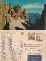 Italian Postcard To Saudi Arabia, Mountains Cachet On The Card   (7092) - Maximum Cards